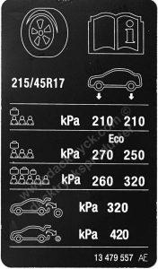 Däcktryck Opel Corsa 1.4 90 2018