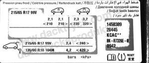 Däcktryck Peugeot 3008 BlueHDi 120 2017